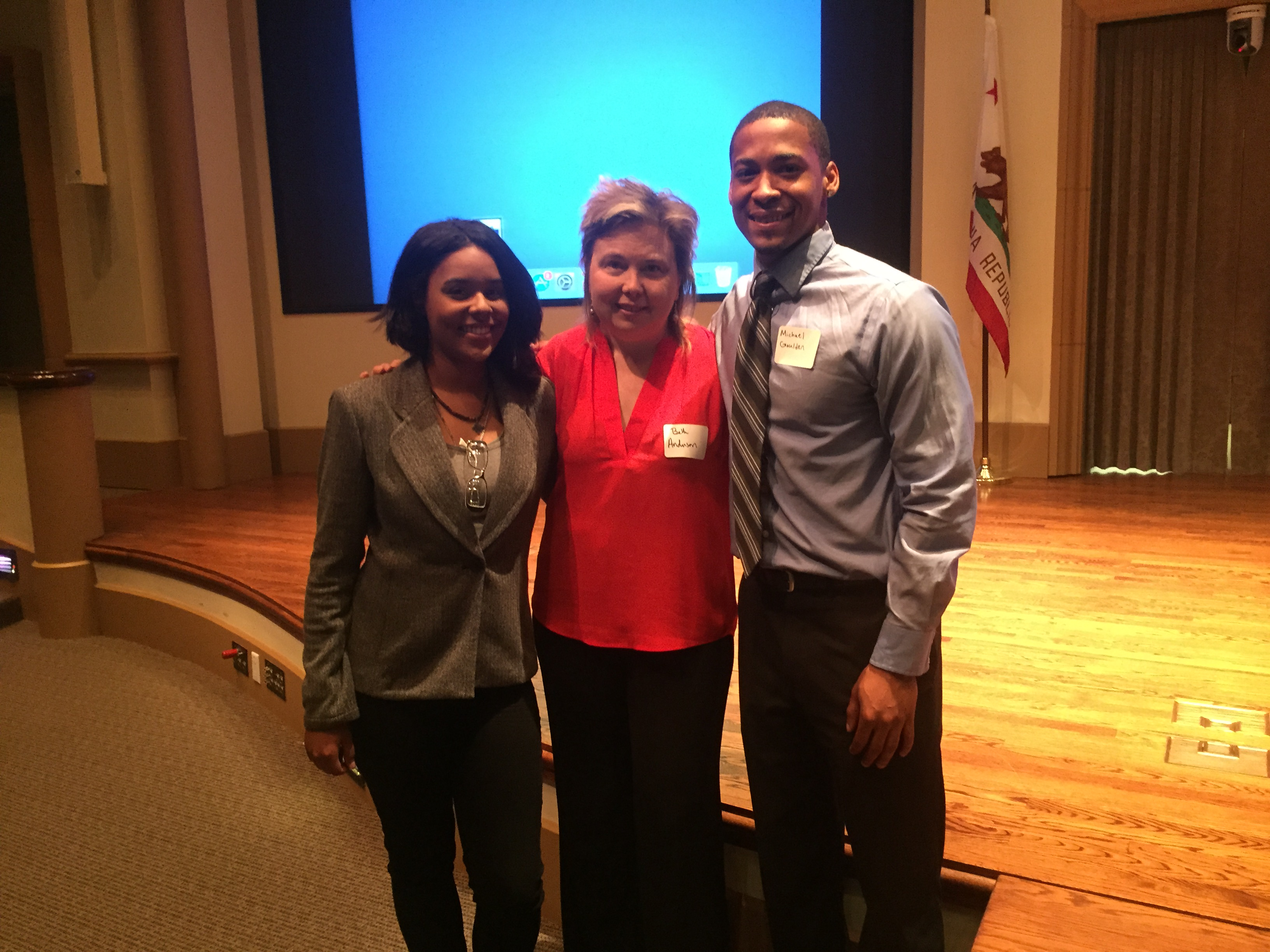 With Elizabeth Rodriguez and Beth Anderson, co-keynotes for Juvenile Courts & Community Schools Kickoff
